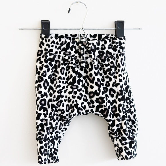 Baby Girl Pink Cheetah Harem Pants Size 3-6 Months